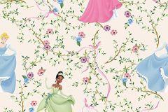 WPD9705 cikkszámú tapéta.Gyerek,virágmintás,kék,pink-rózsaszín,sárga,vajszínű,gyengén mosható,vlies tapéta