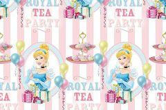 WPD9706 cikkszámú tapéta.Csíkos,gyerek,kék,pink-rózsaszín,vajszínű,gyengén mosható,vlies tapéta
