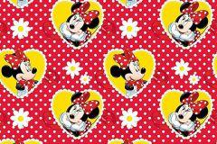 WPD9718 cikkszámú tapéta.Gyerek,pöttyös,virágmintás,fehér,fekete,piros-bordó,sárga,gyengén mosható,vlies tapéta