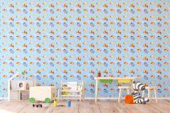 WPD9720 cikkszámú tapéta.állatok,gyerek,kék,pink-rózsaszín,piros-bordó,sárga,gyengén mosható,vlies tapéta