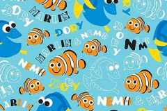 WPD9724 cikkszámú tapéta.állatok,gyerek,rajzolt,fehér,fekete,kék,narancs-terrakotta,gyengén mosható,vlies tapéta