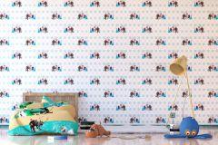 WPD9732 cikkszámú tapéta.Gyerek,barna,fehér,kék,piros-bordó,szürke,gyengén mosható,vlies tapéta