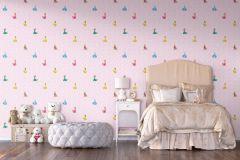 WPD9734 cikkszámú tapéta.Gyerek,kék,lila,pink-rózsaszín,sárga,gyengén mosható,vlies tapéta