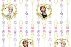 WPD9738 cikkszámú tapéta.Gyerek,virágmintás,barna,fehér,pink-rózsaszín,sárga,zöld,gyengén mosható,vlies tapéta