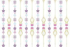 WPD9739 cikkszámú tapéta.Gyerek,virágmintás,pink-rózsaszín,piros-bordó,sárga,zöld,gyengén mosható,vlies tapéta