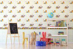 WPD9740 cikkszámú tapéta.állatok,gyerek,piros-bordó,sárga,szürke,zöld,gyengén mosható,vlies tapéta