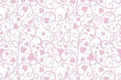 WPD9743 cikkszámú tapéta.Absztrakt,gyerek,fehér,pink-rózsaszín,gyengén mosható,vlies tapéta