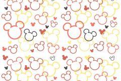 WPD9749 cikkszámú tapéta.Gyerek,fehér,fekete,piros-bordó,sárga,gyengén mosható,vlies tapéta