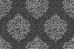 32480-4 cikkszámú tapéta.Barokk-klasszikus,különleges felületű,ezüst,fekete,szürke,gyengén mosható,vlies tapéta