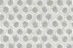 33327-1 cikkszámú tapéta.Absztrakt,különleges felületű,metál-fényes,ezüst,fehér,gyengén mosható,vlies tapéta