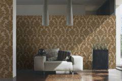 33580-2 cikkszámú tapéta.Barokk-klasszikus,különleges felületű,különleges motívumos,metál-fényes,plüss felületű,velúr felületű,arany,barna,vlies tapéta