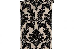 33580-4 cikkszámú tapéta.Barokk-klasszikus,különleges felületű,különleges motívumos,plüss felületű,velúr felületű,bézs-drapp,fekete,vlies tapéta