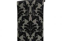 33580-5 cikkszámú tapéta.Barokk-klasszikus,különleges felületű,különleges motívumos,plüss felületű,velúr felületű,fekete,szürke,vlies tapéta