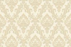 33582-2 cikkszámú tapéta.Barokk-klasszikus,különleges felületű,plüss felületű,velúr felületű,bézs-drapp,vajszín,vlies tapéta