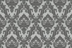 33582-3 cikkszámú tapéta.Barokk-klasszikus,különleges felületű,plüss felületű,velúr felületű,fekete,szürke,vlies tapéta