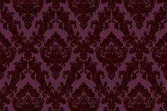 33582-5 cikkszámú tapéta.Barokk-klasszikus,különleges felületű,plüss felületű,velúr felületű,lila,piros-bordó,vlies tapéta