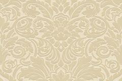 33583-1 cikkszámú tapéta.Barokk-klasszikus,különleges felületű,plüss felületű,velúr felületű,bézs-drapp,vajszín,vlies tapéta
