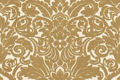 33583-2 cikkszámú tapéta.Barokk-klasszikus,különleges felületű,plüss felületű,velúr felületű,arany,vajszín,vlies tapéta