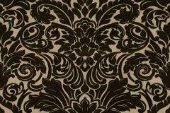 33583-4 cikkszámú tapéta.Barokk-klasszikus,különleges felületű,plüss felületű,velúr felületű,arany,fekete,vlies tapéta