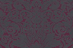 33583-5 cikkszámú tapéta.Barokk-klasszikus,különleges felületű,plüss felületű,velúr felületű,lila,piros-bordó,szürke,vlies tapéta