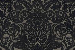 33583-6 cikkszámú tapéta.Barokk-klasszikus,különleges felületű,plüss felületű,velúr felületű,fekete,szürke,vlies tapéta