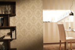 2903-28 cikkszámú tapéta.Barokk-klasszikus,csillámos,textilmintás,valódi textil,bézs-drapp,gyöngyház,vajszínű,gyengén mosható,vlies tapéta
