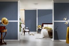 2903-66 cikkszámú tapéta.Barokk-klasszikus,csillámos,valódi textil,barna,kék,gyengén mosható,vlies tapéta