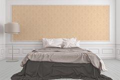 2903-73 cikkszámú tapéta.Barokk-klasszikus,csillámos,valódi textil,bézs-drapp,gyengén mosható,vlies tapéta