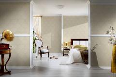 2904-27 cikkszámú tapéta.Valódi textil,barokk-klasszikus,csillámos,bézs-drapp,gyengén mosható,vlies tapéta
