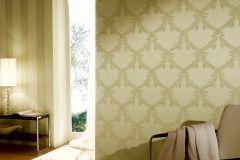 2904-34 cikkszámú tapéta.Barokk-klasszikus,csillámos,valódi textil,zöld,gyengén mosható,vlies tapéta
