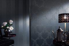2904-65 cikkszámú tapéta.Barokk-klasszikus,csillámos,valódi textil,barna,kék,gyengén mosható,vlies tapéta