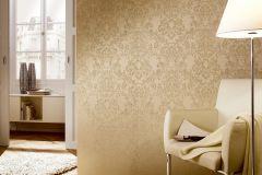 2905-40 cikkszámú tapéta.Barokk-klasszikus,csillámos,valódi textil,barna,bronz,szürke,gyengén mosható,vlies tapéta