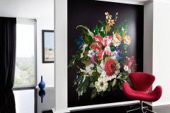 10081-2 cikkszámú tapéta.Különleges felületű,különleges motívumos,rajzolt,természeti mintás,virágmintás,fehér,fekete,kék,lila,narancs-terrakotta,pink-rózsaszín,piros-bordó,szürke,zöld,vlies poszter, fotótapéta