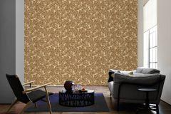 33869-4 cikkszámú tapéta.Barokk-klasszikus,különleges felületű,különleges motívumos,rajzolt,természeti mintás,virágmintás,barna,bézs-drapp,sárga,súrolható,vlies tapéta