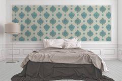 33928-1 cikkszámú tapéta.Barokk-klasszikus,különleges felületű,különleges motívumos,metál-fényes,kék,szürke,türkiz,zöld,súrolható,vlies tapéta