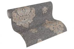 33928-3 cikkszámú tapéta.Barokk-klasszikus,különleges felületű,metál-fényes,textil hatású,barna,bézs-drapp,piros-bordó,szürke,súrolható,vlies tapéta