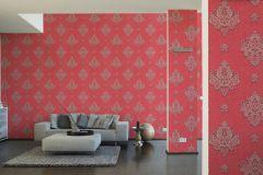 33928-4 cikkszámú tapéta.Barokk-klasszikus,különleges felületű,metál-fényes,rajzolt,textil hatású,piros-bordó,szürke,súrolható,vlies tapéta