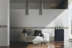 34074-2 cikkszámú tapéta.Csíkos,különleges felületű,különleges motívumos,rajzolt,virágmintás,ezüst,fekete,szürke,vajszín,vlies bordűr