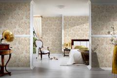 34075-4 cikkszámú tapéta.Barokk-klasszikus,különleges felületű,rajzolt,textil hatású,virágmintás,bézs-drapp,súrolható,vlies tapéta