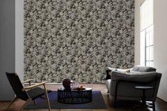 34077-2 cikkszámú tapéta.Barokk-klasszikus,különleges felületű,metál-fényes,rajzolt,természeti mintás,textil hatású,virágmintás,barna,bronz,szürke,vajszín,súrolható,vlies tapéta
