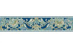 34078-1 cikkszámú tapéta.Barokk-klasszikus,különleges motívumos,rajzolt,természeti mintás,virágmintás,bronz,ezüst,kék,zöld,vlies bordűr