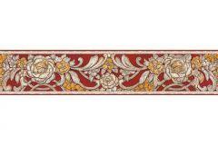34078-3 cikkszámú tapéta.Rajzolt,természeti mintás,virágmintás,barokk-klasszikus,különleges felületű,különleges motívumos,metál-fényes,bronz,piros-bordó,sárga,vajszín,vlies bordűr