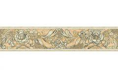 34078-5 cikkszámú tapéta.Barokk-klasszikus,különleges felületű,különleges motívumos,metál-fényes,rajzolt,természeti mintás,virágmintás,bézs-drapp,zöld,vlies bordűr