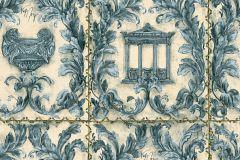 34086-3 cikkszámú tapéta.Egyszínű,különleges felületű,különleges motívumos,metál-fényes,rajzolt,természeti mintás,textil hatású,kék,türkiz,vajszín,zöld,súrolható,vlies tapéta