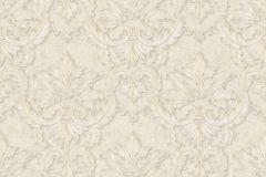 34370-6 cikkszámú tapéta.Barokk-klasszikus,különleges felületű,különleges motívumos,metál-fényes,fehér,vajszín,súrolható,vlies tapéta