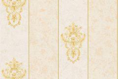 34371-1 cikkszámú tapéta.Barokk-klasszikus,csíkos,különleges felületű,különleges motívumos,metál-fényes,arany,bézs-drapp,vajszín,súrolható,vlies tapéta