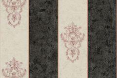 34371-2 cikkszámú tapéta.Barokk-klasszikus,csíkos,különleges felületű,különleges motívumos,metál-fényes,bézs-drapp,fekete,pink-rózsaszín,vajszín,súrolható,vlies tapéta