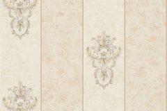 34371-3 cikkszámú tapéta.Barokk-klasszikus,csíkos,különleges felületű,különleges motívumos,metál-fényes,vajszín,bézs-drapp,súrolható,vlies tapéta