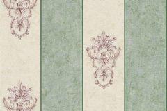 34371-5 cikkszámú tapéta.Csíkos,különleges felületű,különleges motívumos,metál-fényes,pink-rózsaszín,vajszín,zöld,súrolható,vlies tapéta