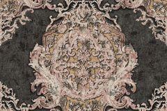 34372-2 cikkszámú tapéta.Barokk-klasszikus,különleges felületű,különleges motívumos,metál-fényes,bronz,fekete,pink-rózsaszín,vajszín,súrolható,vlies tapéta